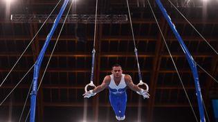 Le Français Samir Aït Saïd participera à la finale de l'épreuve des anneaux des Jeux olympiques de Tokyo, lundi 2 août. (MARTIN BUREAU / AFP)