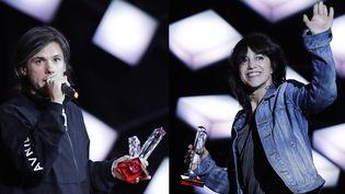 OrelSan et Charlotte Gainsbourg aux Victoires de la Musique 2018.  (Thomas Samson / AFP)