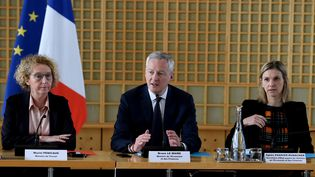 Le ministre de l'Economie et des Finances, Bruno Le Maire, le 9 mars 2020 (ERIC PIERMONT / AFP)