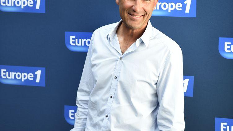 L'humoriste Nicolas Canteloup au siège d'Europe 1, à Paris, le 3 septembre 2014. (MARTIN BUREAU / AFP)