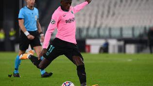 Ousmane Dembélé au stade de la Juventus de Turin (Italie), le 28 octobre 2020. (MARCO BERTORELLO / AFP)