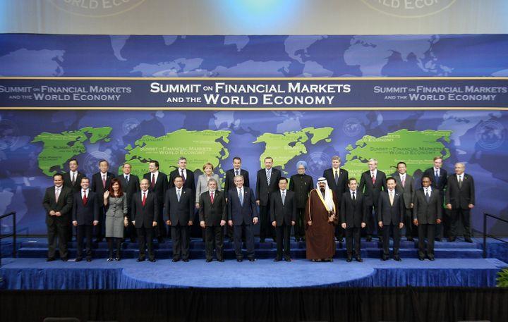 Le G20 de Washington, le 15 novembre 2008. (JASON REED / REUTERS)