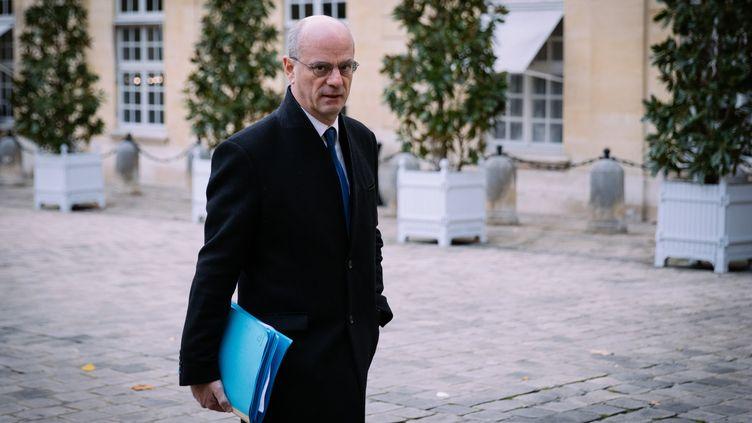 Le ministre de l'Education nationale, Jean-Michel Blanquer, à Matignon, à Paris le 25 novembre 2019. (MARIE MAGNIN / HANS LUCAS / AFP)
