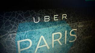 Page d'accueil du site web d'Uber, le 3 juillet 2015. ( MAXPPP)