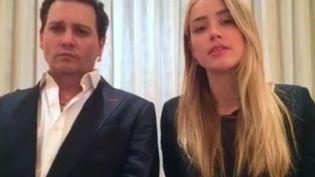 Le ministre de l'Agriculture australien a publié une vidéo, lundi 18 avril 2016, dans laquelle Johnny Depp et sa femme, Amber Heard, s'excusent pour avoir fait entrer leurs deux chiens sans les déclarer. (BARNABY JOYCE / FACEBOOK)