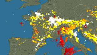 La carte des impacts de foudre recensés par le réseau Blitzortung le 4 juin 2018. (BLITZORTUNG.ORG)