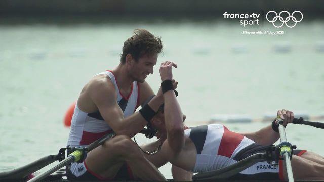 La joie de Boucheron et Androdias après leur victoire d'un souffle devant les Pays-Bas.