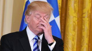 Donald Trump, le 24 mars 2017. (MANDEL NGAN / AFP)