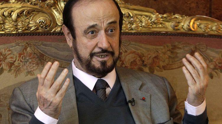 Rifaat Al-Assad, oncle du président syrien, à Paris, le 15 novembre 2011. (MICHEL EULER / AP / SIPA)