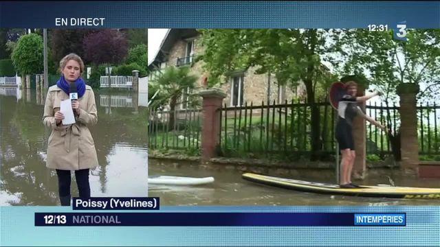 Poissy : la crue s'étend en aval de la Seine