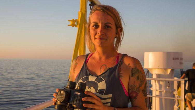 La capitaine allemande Pia Kemp, accusée d'aide à l'immigration illégale en Italie. (SEA WATCH)