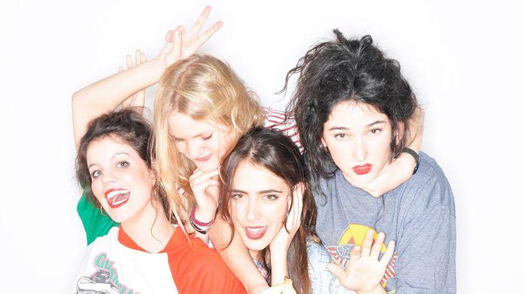 Les quatre sauvageonnes espagnoles de Hinds à l'affiche du Pitchfork Paris 2015.  (DR)