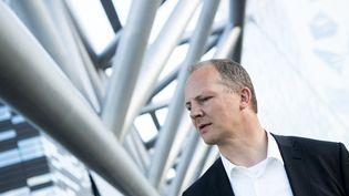 L'ancien ministre norvégien des Transports et des CommunicationsKetil Solvik-Olsen,à Oslo, le 8 août 2016. (BOE, TORSTEIN / NTB SCANPIX MAG / AFP)
