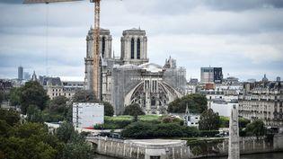 La cathédrale Notre-Dame de Paris, le 19 août 2021. (STEPHANE DE SAKUTIN / AFP)