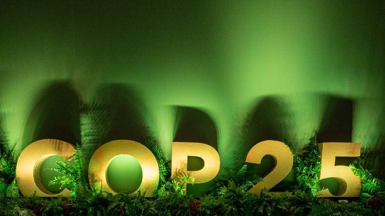 Dans les allées de la COP25 qui a ouvert ses portes, le 2 décembre 2019 à Madrid, en Espagne. (CARINE SCHMITT / HANS LUCAS)