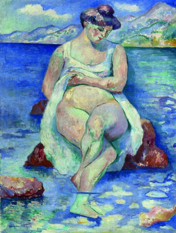 """""""La baigneuse"""", Henri Manguin, 1906. Huile sur toile.  (ADAGP, Paris 2013, Jean-Luc Lacroix)"""