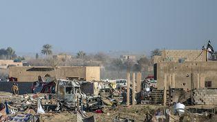 A Baghouz (Syrie), près du dernier réduit des combattants du groupe Etat islamique,le 9 mars 2019. (BULENT KILIC / AFP)