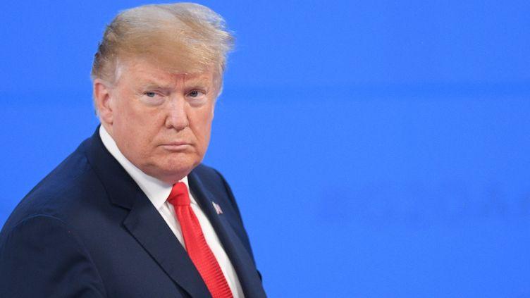 Donald Trump, le 30 novembre 2018, à Buenos Aires (Argentine). (VLADIMIR ASTAPKOVICH / AFP)