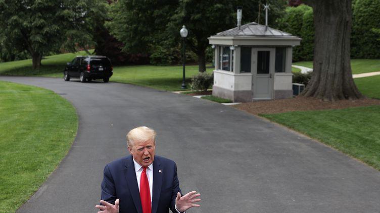 Le président américain, Donald Trump, le 21 mai 2020 à Washington (Etats-Unis). (ALEX WONG / GETTY IMAGES NORTH AMERICA / AFP)