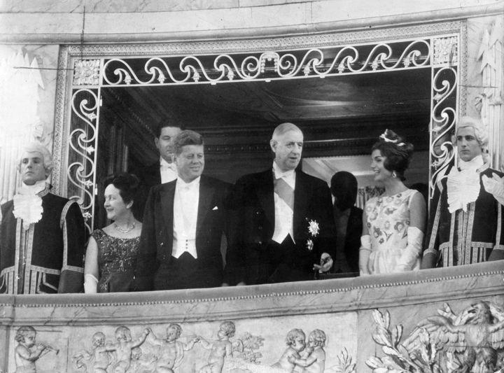 Le Président De Gaulle reçoit le Président Kennedy - Mme. DE GAULLE / President KENNEDY / General DE GAULLE / JACQUELINE KENNEDY  (ZUMA PRESS/MAXPPP)