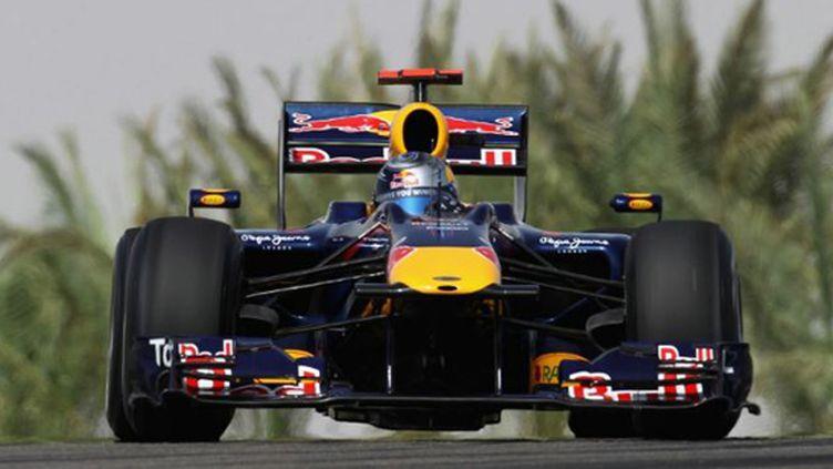 Sebastian Vettel (Red Bull) à l'attaque