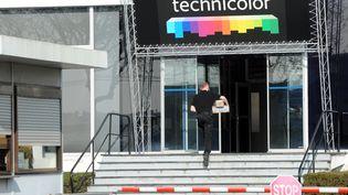 L'entrée du site Technicolor d'Angers (Maine-et-Loire), le 13 mars 2012. (COMBET LAURENT / LE COURRIER DE L'OUEST / MAXPPP)