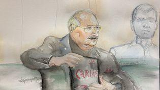 Carlos assiste à son procès, le 13 mars 2017, à Paris. (ELISABETH DE POURQUERY / FRANCEINFO)