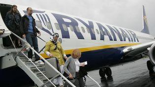 Un avion Ryanair sur l'aéroportde Brie-Champniers, en Charente. (MAXPPP)