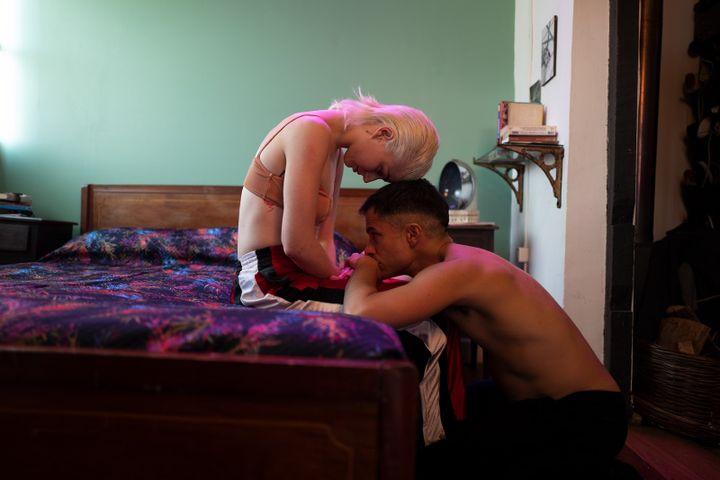 "Ema (Mariana Di Girolamo) et Gaston (Gael Garcia Bernal) dans le film ""Ema"" de Pablo Larrain. (KOCH FILMS)"