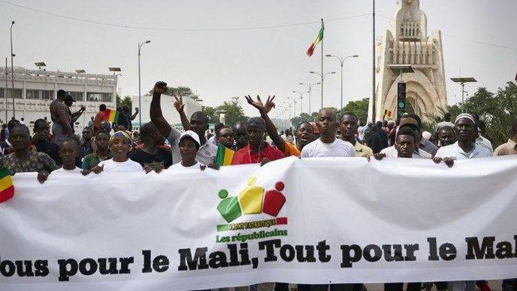 Manifestation à Bamako pour réclamer la transparence dans les élections, le 8 juin 2018. (AFP/Michèle Cattani)