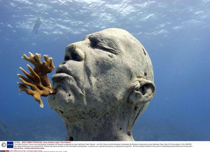'The Silent Evolution' Cancun et Isla Mujeres Underwater Art Museum sculptures par Jason deCaires Taylor, Mexique - janvier 2010 (JASON DECAIRES TAYLOR //REX/SIPA / REX)