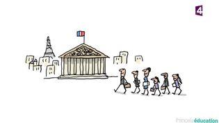 Les élections législatives expliquées aux enfants. (FRANCE 4)