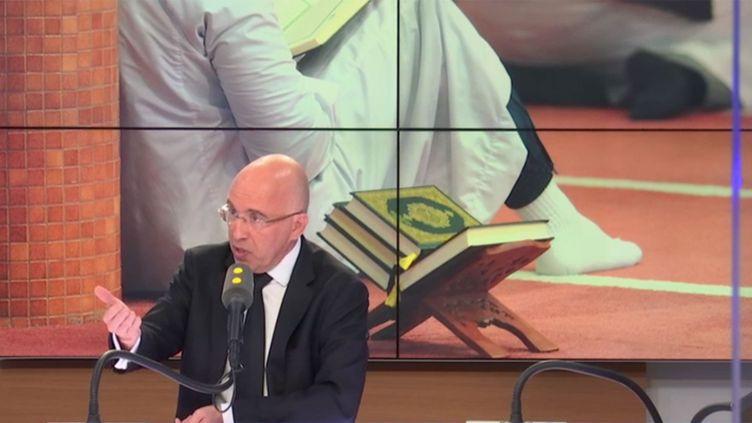 Eric Ciotti, député Les Républicains des Alpes-Maritimes, le 6 novembre 2018 sur franceinfo. (RADIO FRANCE / FRANCE INFO)