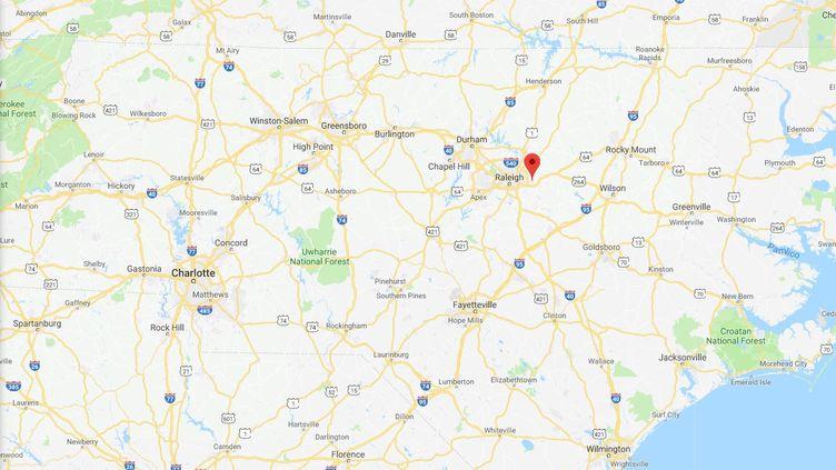 Un père et sa fille ont été inculpés pour inceste à Knightdale, en Caroline du Nord, et auditionnés le 29 janvier 2018. (GOOGLE MAPS)