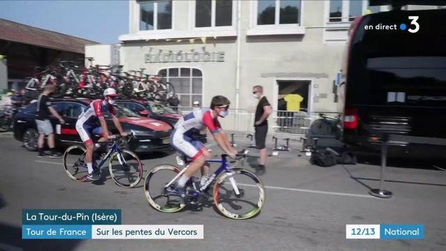 Tour de France : les coureurs sur les pentes du Vercors