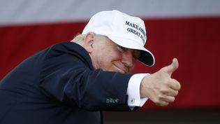 Le candidat républicain Donald Trump à Miami en Florise en meeting en vue de l'élection présidentielle. (RHONA WISE / AFP)