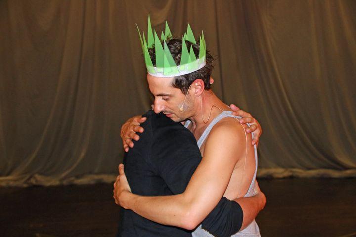 Thomas Jolly (Atrée) et Damien Avice (Thyeste) en répétition  (Sophie Jouve/Culturebox)