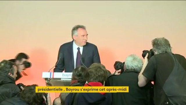 Présidentielle : François Bayrou n'est pas candidat, il propose une alliance à Macron