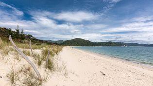Photo non-datée d'une plage de Nouvelle-Zélande. (STR / BAYLEYS REAL ESTATE / AFP)