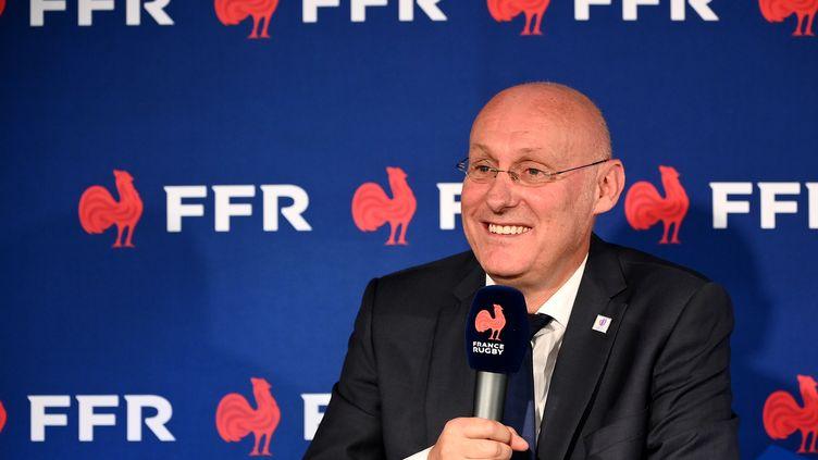Le président de la Fédération française de rugby, Bernard Laporte (FRANCK FIFE / AFP)