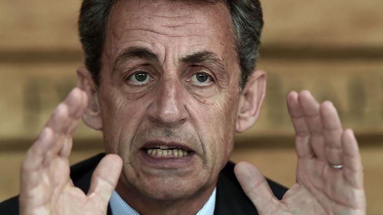 """(""""Qu'y a-t-il de plus évolutif que le droit ?"""" s'interroge  Nicolas Sarkozy © FREDERICK FLORIN / AFP)"""