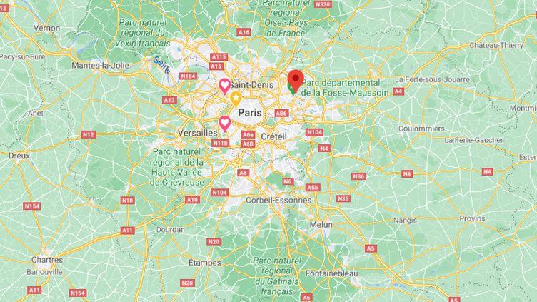 Une rixe survenue le1er avril à Clichy-sous-Bois (Seine-Saint-Denis) a fait un blessé grave. (GOOGLE MAPS / FRANCEINFO)