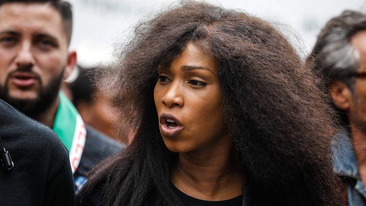 Asssa Traoré, le 26 mai 2018, à Paris. (OLIVIER CORSAN / MAXPPP)