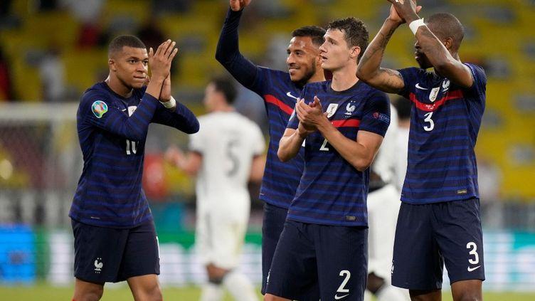 L'équipe de France s'est imposée 1-0 face à l'Allemagne, mardi 15 juin, à l'occasion de son premier match à l'Euro 2021. (MATTHIAS SCHRADER / AFP)