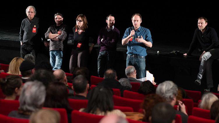Assemblée générale des intermittents du spectacle, le 17 février 2014  (WOSTOK PRESS/MAXPPP)