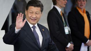 Le président Xi Jinping à La Haye (Pays-Bas), le 25 mars 2014. (BART MAAT / AFP)