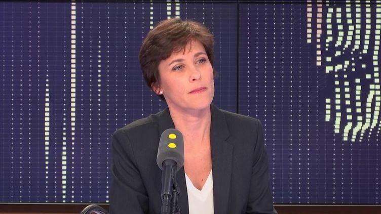 Christelle Dubos, secrétaire d'État auprès de la ministre de la Santé et des solidarités, le 19 novembre 2018. (RADIO FRANCE / FRANCEINFO)