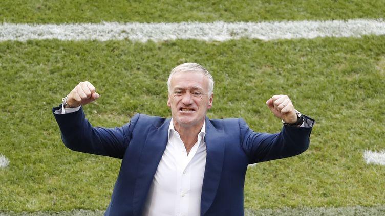 Didier Deschamps, le sélectionneur des Bleus, le 26 juin 2016 à Lyon (Rhône). (MAX ROSSI / REUTERS)