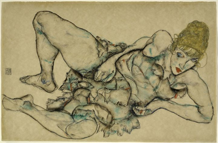 """Egon Schiele, """"Femme blonde couchée"""", 1914, The Baltimore Museum of Art, Fanny B. Thalheimer Memorial Fund and Friends of Art Fund  (Photo : © Mitro Hood)"""
