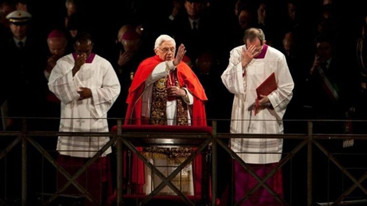 Messe de Benoît XVI à la basilique Saint-Pierre, le 2 avril 2010 (AFP/ANDREAS SOLARO)